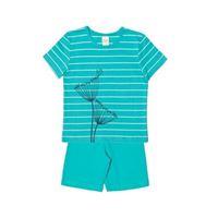 Living Crafts pigiama corto bambina -col. Verde menta