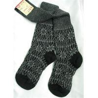 Hirsch Natur calza lunga adulto in lana motivo jacquard