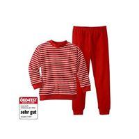 Living Crafts pigiama in cotone biologico -col. Righe rosso