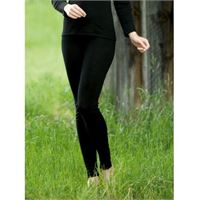 Engel leggings donna in lana mista seta col. Nero