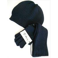 Italmaglia completo berretto e guanto punto pannocchia - 100% pura lana 9411fd9fc2bf