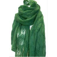 Italmaglia stola leggerissima in maglia con traforo in punto pavone - mohair