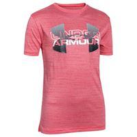UNDER ARMOUR t-shirt big logo hybrid bambino