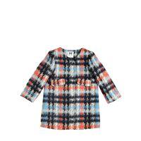 MILLY MINIS cappotto in feltro di misto cotone e lana tartan