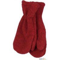 Popolini muffole bambino in pile di lana - col. Bacca