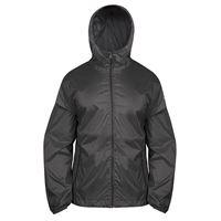 BREKKA giacca con cappuccio b-way impermeabile nera uomo