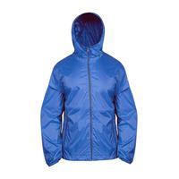 BREKKA giacca b-way impermeabile bluette uomo