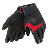 Dainese guanti moto estivi desert poon d1 nero rosso