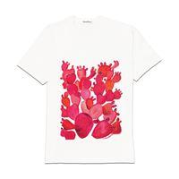 Carla Caroli t-shirt in cotone dipinta a mano cct02 cct02-4 fico rosso taglia adulto l