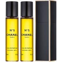 Chanel n°5 eau de parfum (1x ricaricabile + 2x ricariche) da donna 3x20 ml