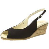 Hans Herrmann Collection hhc sandali con cinturino alla caviglia donna, (nero 5010), 37 eu
