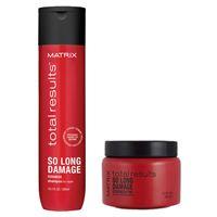 Matrix total results kit so long damage shampoo + strength pak