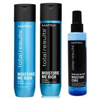 Matrix total results kit moisture me rich shampoo + conditioner + moisture cure