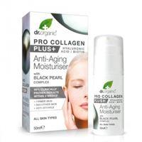 Dr. Organic crema viso idratante anti age Dr. Organic pro collagen plus con black pearl complex 50 ml