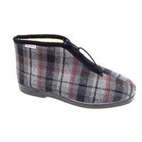Superga pantofola Superga in panno scozzese con cerniera