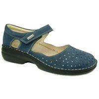 Susimoda scarpa Susimoda walksan con plantare estraibile in nabuk blu
