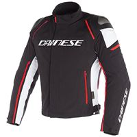 Dainese racing 3 d-dry giacca in tessuto bianco rosso