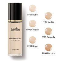 Euphidra Make-up eu. Phidra linea trucco viso base fondotinta fluido mat coprente colore ff06