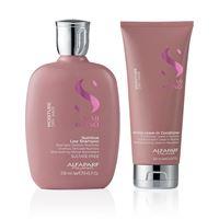 Alfaparf new semi di lino moisture kit shampoo + leave in conditioner