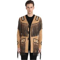 CHRISTOPHE TERZIAN giacca hendrix in camoscio con frange