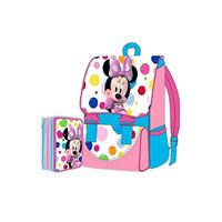DISNEY minnie - kit zaino estensibile + astuccio 3 zip