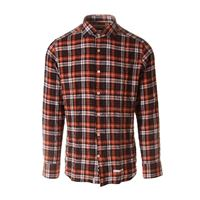 TINTORIA MATTEI 954 abbigliamento uomo camicia scozzese arancione TINTORIA MATTEI 954