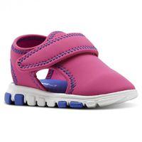 Reebok wave glider iii pink/acid blue/silver scarpe da bambini