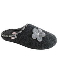 Superga pantofola Superga in lana cotta grigia