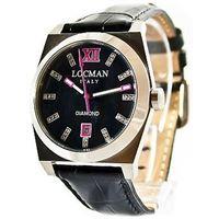 Locman stealth / orologio donna / quadrante madreperla nera e diamanti / cassa acciaio e titanio / cinturino pelle nera