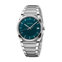 Calvin Klein step / orologio uomo / quadrante green / cassa e bracciale acciaio