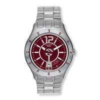 Swatch / irony / in a burgundy mode / orologio unisex / quadrante grigio / cassa acciaio / bracciale acciaio