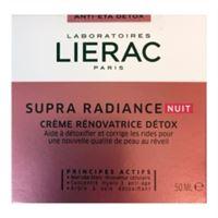 Lierac linea supra radiance crema notte anti-ox anti-età rimpolpante 50 ml