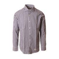 TINTORIA MATTEI 954 abbigliamento uomo camicia scacchi grigio / bianco TINTORIA MATTEI 954