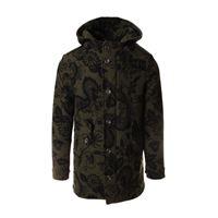 MASON'S abbigliamento uomo giacca misto lana stampato verde MASON'S