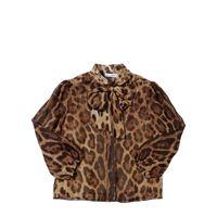 DOLCE & GABBANA camicia in chiffon di seta leopard