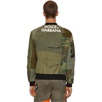 DOLCE & GABBANA giacca military patchwork