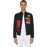 DSQUARED2 giacca chino in twill di cotone