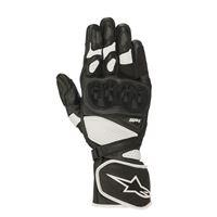 Alpinestars guanti moto pelle racing Alpinestars sp-1 v2 nero bianco