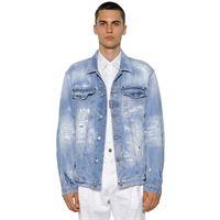 DSQUARED2 giacca oversize in denim di cotone