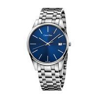 Calvin Klein time / orologio uomo / quadrante blu / cassa e bracciale acciaio