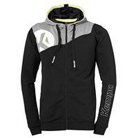 Kempa core 2. 0 giacca con cappuccio cappotto, unisex, core 2. 0 kapuzenjacke, schwarz/dark grau melange, s