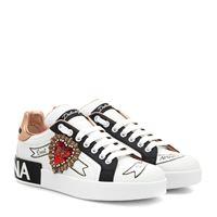Dolce & Gabbana sneakers portofino in pelle con logo