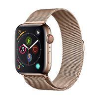 Apple watch series 4 (gps + cellulare) cassa 44 mm in acciaio inossidabile color oro e loop in maglia milanese color oro