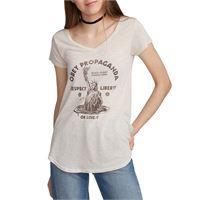 Obey t-shirt Obey lady liberty lou v neck cobblestone