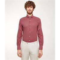 Lanieri camicia da uomo su misura, canclini, optical rossa, quattro stagioni