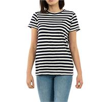 Tommy Jeans tjw textured stripe tee t-shirt, viola (pastel lilac/classic white 575), m donna
