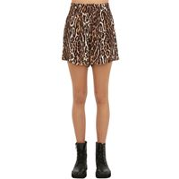 R13 shorts in viscosa leopard