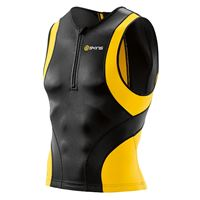 Skins tri400 nero-giallo top triathlon, per uomo, taglia m, maglia triathlon,