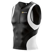 Skins tri400 nero-bianco top triathlon, per uomo, taglia m, maglia triathlon, ab