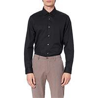 MERAKI camicia regular fit in cotone a manica lunga uomo, bianco (white), small